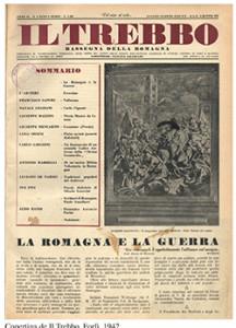 Copertina de Il Trebbo, Forlì, 1942.