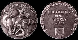 Medaglie commemorative Premio Città d'Europa, Faenza, 1968