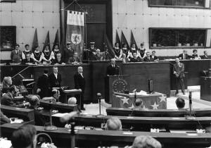 Conferimento Premio Città d'Europa, Parlamento Europeo, Strasburgo, 1968.