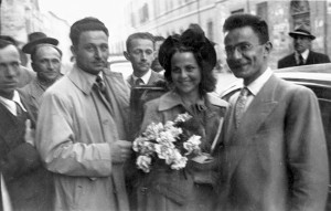 Nozze di AD e Giuseppina Morgagni, Forlì 1948.