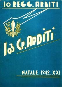 Copertina del 10° Reggimento Arditi, 1942.