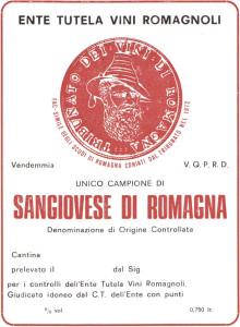 Etichetta per l'analisi dei campioni di vino.