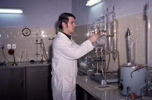 Laboratorio analisi Ente Tutela Vini, Faenza, 1971