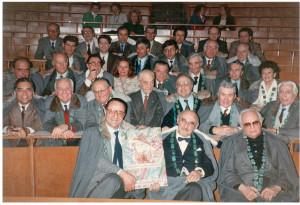 Targa ceramica di merito all'Università di Bologna, aula magna della Facoltà di Agraria, Bologna, 1987.