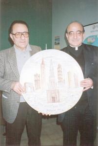 Don Michele Fusconi e Alteo Dolcini, 1990.