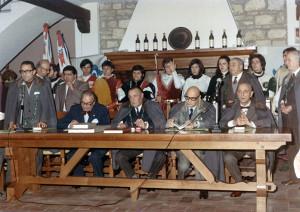 Inaugurazione della Ca' de Bé, Bertinoro, 1971.