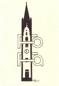 Logo associativo, opera di Enzo Pasqui.