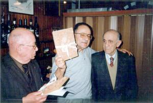 Da sinistra: Masì Piazza, Alteo Dolcini, Ettore Nadiani, Faenza, 1996.