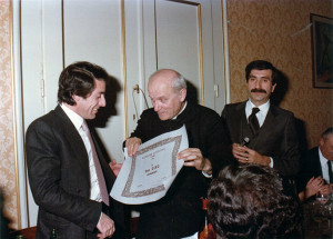 Premio Riunione Cittadina a Don Gino Montanari, Faenza, 1982.