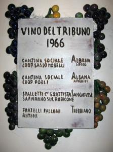 Prima targa assegnata Vino del Tribuno, Cà de Bé, Bertinoro, 1967.Prima targa assegnata Vino del Tribuno, Cà de Bé, Bertinoro, 1967.