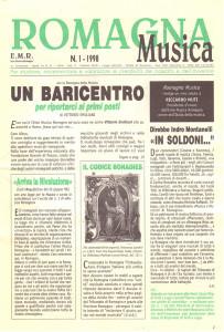 Romagna Musica, rivista dell'Ente Musica Romagna, copertina del numero 1, 1998.