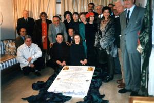 Targa ceramica artistica a ricordo del Prodigio del 1567, Faenza, 1996.