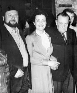 Wilma Vernocchi (con Max David, sulla destra), Bertinoro, 1977.