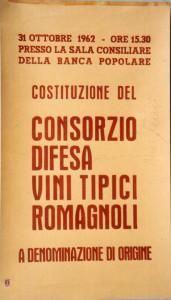 Manifesto per la prima convocazione del C.D.V.R., Faenza, 1962.