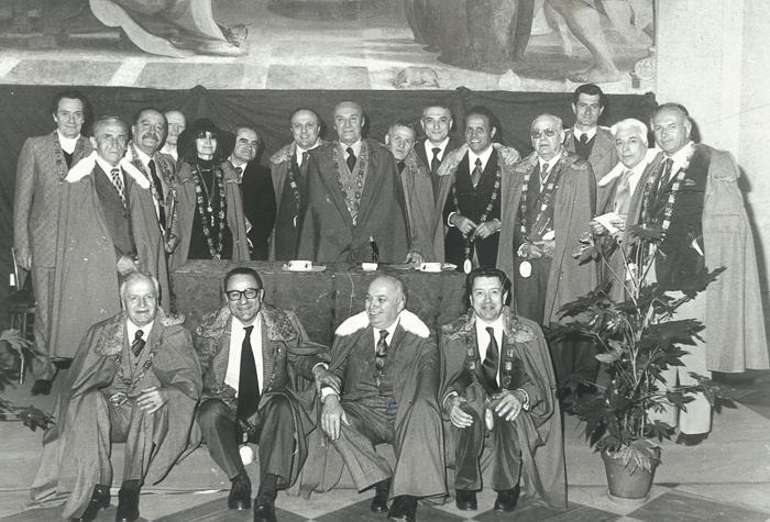 Tribuni a Roma incontro con sindaco Vetere 1975