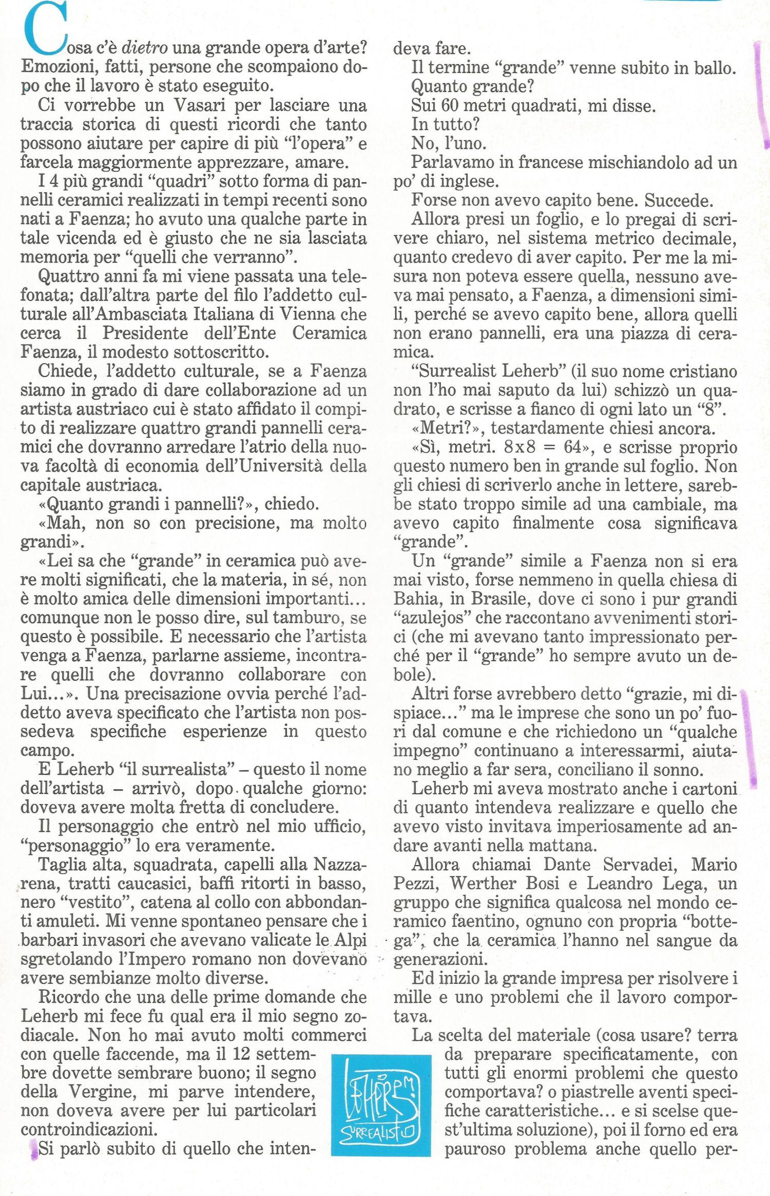 Articolo Alteo Dolcini 1984